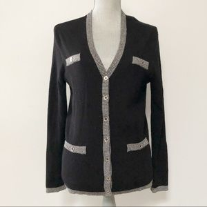 Karl Lagerfeld cardigan with metallic buttons